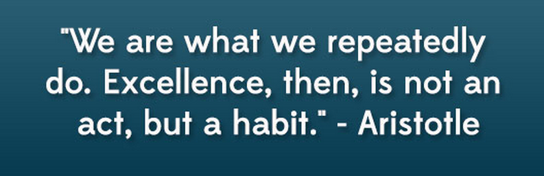 We r what we repeatedly do...