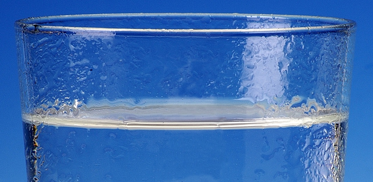 water-glass-blue